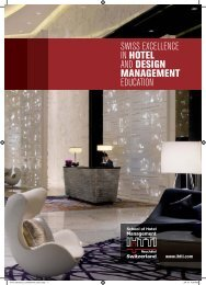 SWISS EXCELLENCE IN HOTEL AND DESIGN MANAGEMENT ...
