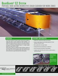 QUADGUARD ® CZ SYSTEM - Energy Absorption Systems