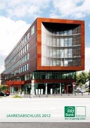 JAHRESABSCHLUSS 2012 - PSD Bank Westfalen-Lippe eG