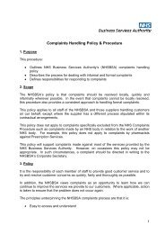 Complaints Handling Policy & Procedure - NHS Business Services ...