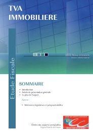 tva immobiliere - Ordre des experts-comptables de Paris Ile-de-France