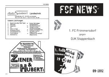 FCF News 09/2012 - 1.FC Frimmersdorf