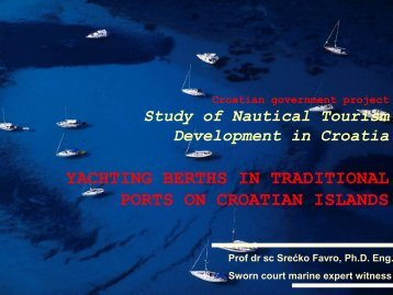 yachting berths in traditional ports on croatian islands