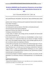 Richtlinie 2008/99/EG des Europäischen Parlaments und des Rates ...