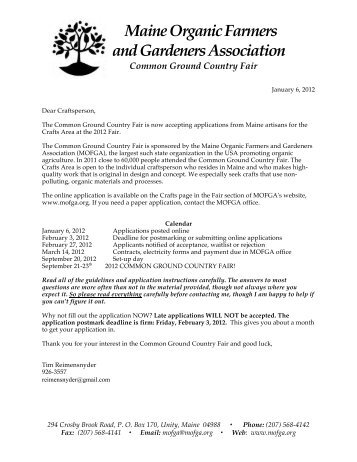 Booth Application (pdf) - Maine Organic Farmers and Gardeners ...