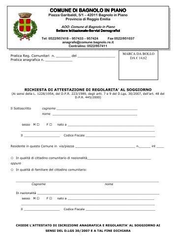 Cittadini comunitari: richiesta di attestazione di soggiorno permanente