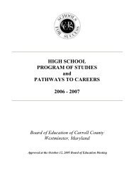 HIGH SCHOOL PROGRAM OF STUDIES and PATHWAYS TO ...