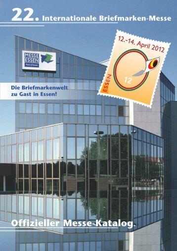 12 Offizieller Messe-Katalog - (Briefmarken) Messe Essen