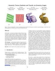 Geometric Texture Synthesis and Transfer via Geometry ... - CiteSeerX