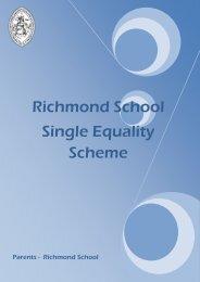 Single Equality Scheme - Richmond School