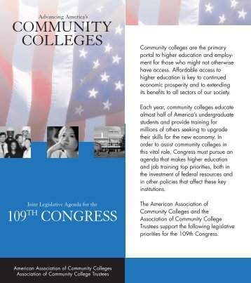 109th Congressional Legislative Agenda - American Association of ...