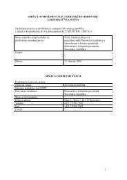 národná správa aarhuského dohovoru - Ministerstvo životného ...