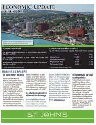 2013 August Economic Update - City of St. John's