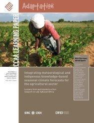 CCAA seasonal forecasting - International Development Research ...