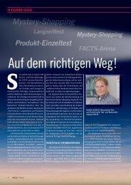 In eigener Sache: Auf dem richtigen Weg! - FACTS Verlag GmbH