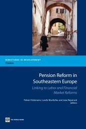 Pension Reform in Southeastern Europe