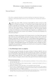 Essai d'historiographie - Centre for Historical Research and ...