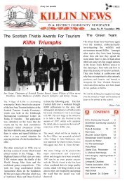 The Killin News - Issue 35 - The Killin Web Site