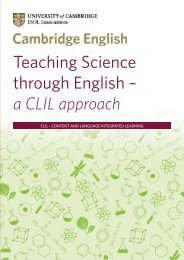 Teaching Science through English – a CLIL approach - Cambridge ...