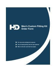 Mens Custom Fitting Kit Order Form - Hair Direct