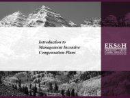 Introduction to Management Incentive Compensation Plans