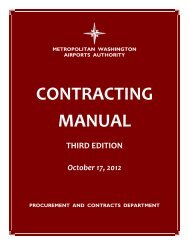 Airports Authority Contracting Manual - Third Edition - Metropolitan ...