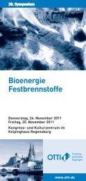 20. Symposium Bioenergie Festbrennstoffe