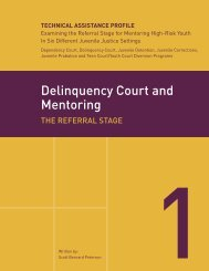 Delinquency Court and Mentoring - National Mentoring Partnership