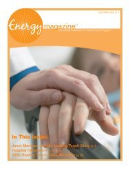 June 2006: Janet Mentgen and the Healing ... - Energy Magazine