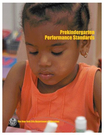 Prekindergarten Performance Standards - School - New York City ...