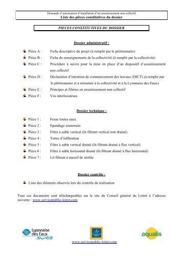 Liste des pièces constitutives du dossier www.servicepublic-loiret ...