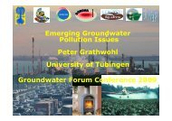 Emerging groundwater pollution issues - The UK Groundwater Forum