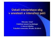 Úskalí interpretace ekg v anestezii a intenzivní péči