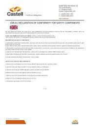name and address of manufacturer: castell safety international ltd.