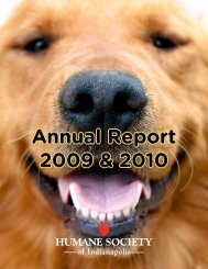 Annual Report 2009 & 2010 - Humane Society of Indianapolis