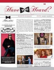 November 2012 Issue 45 - Blacktie Colorado