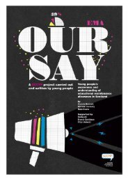 Our say - young researchers' report 2009.pdf - Scotland's ...