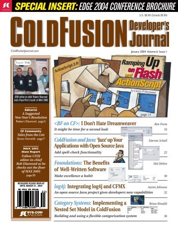 ColdFusion and Java - sys-con.com's archive of magazines - SYS ...