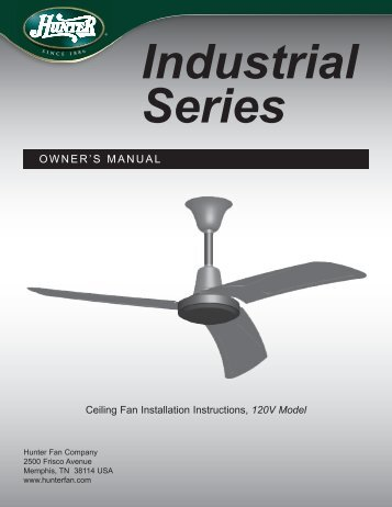 OWNER'S MANUAL - Hunter Fan