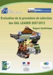 Rapport synthétique de l'étude - Réseau Rural Français
