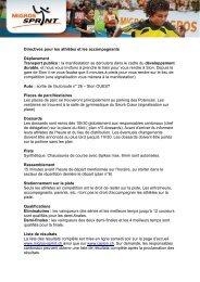 Directives pour les athlètes et les accompagnants Déplacement ...