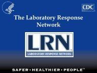 The Laboratory Response Network - Emergency Preparedness and ...