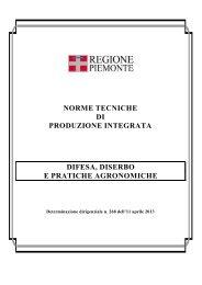 Norme tecniche di produzione integrata - Regione Piemonte