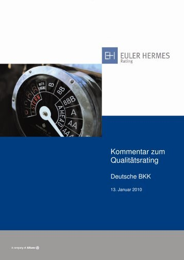Deutsche BKK - Euler Hermes Rating Deutschland GmbH
