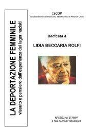 dedicato a LIDIA - Biblioteca Archivio Vittorio Bobbato