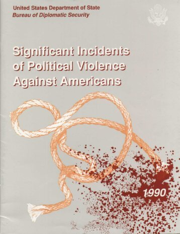 Significant Incidents of Political Violence Against Americans 1990