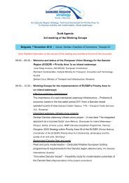 Draft Agenda 3rd meeting of the Working Groups - Via Donau
