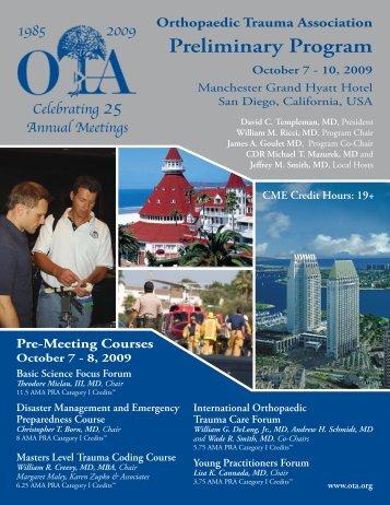Preliminary Program - Orthopaedic Trauma Association