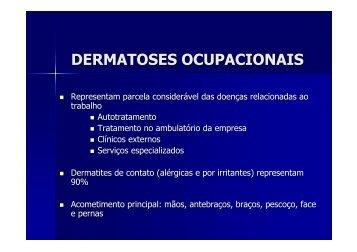 DERMATOSES OCUPACIONAIS - IESC/UFRJ