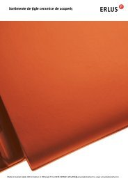 Sortimente de ţigle ceramice de acoperiş - Iftode Universal SNC